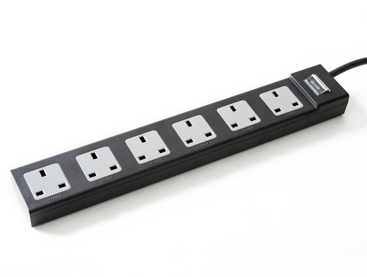 傳統系列 - 6位主控開關拖板 (黑色)