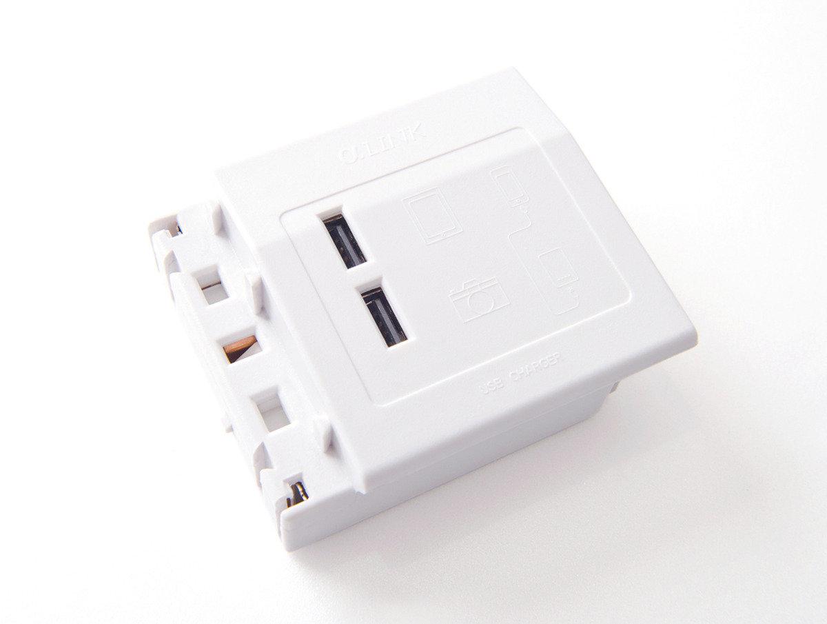 隨插式系列 - USB充電模組 (白色)