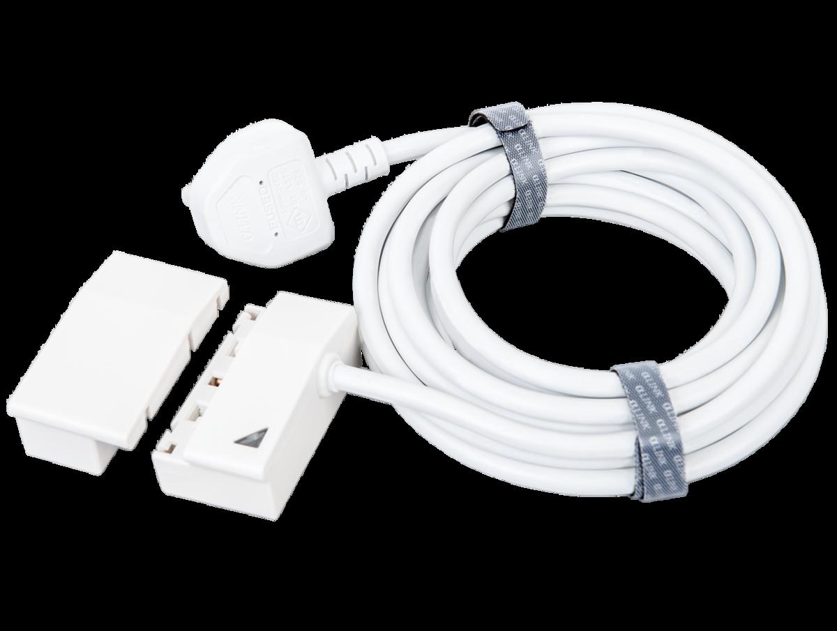 隨插式系列 - 5米電源線套裝 (白色)