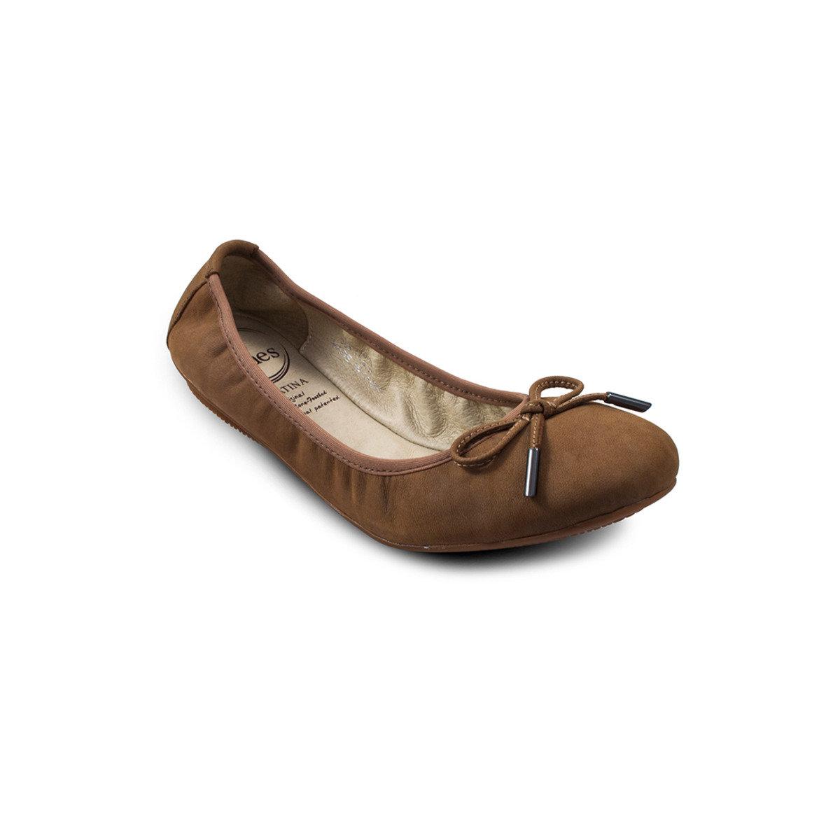 真皮穴位按摩平底鞋