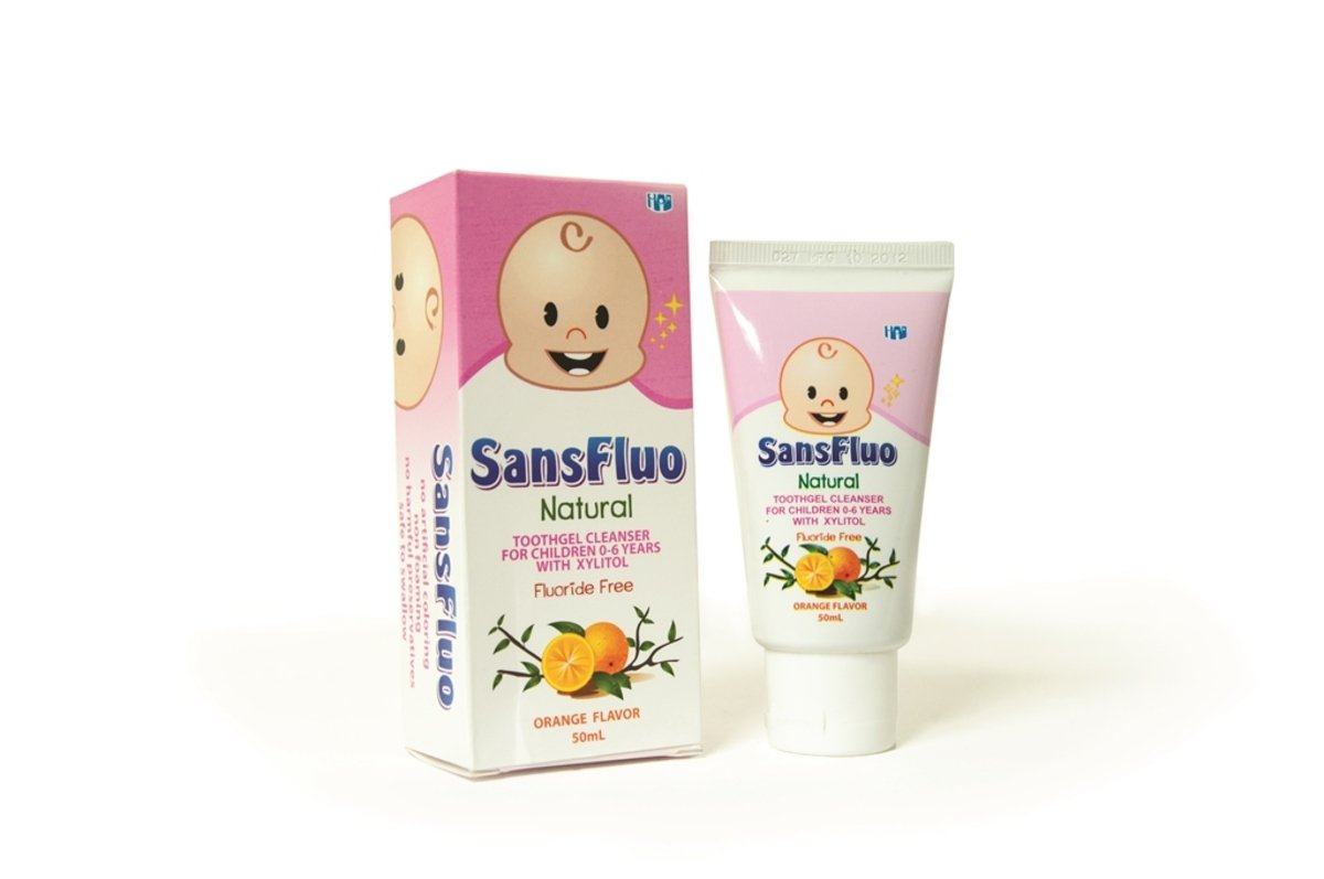 Sansfluo 幼兒牙膏, 橙味
