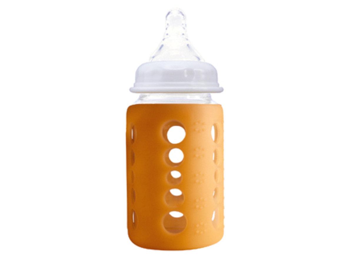 澳洲 Cherub Baby感測顯示寬口玻璃奶樽240ml 8oz- 橙色