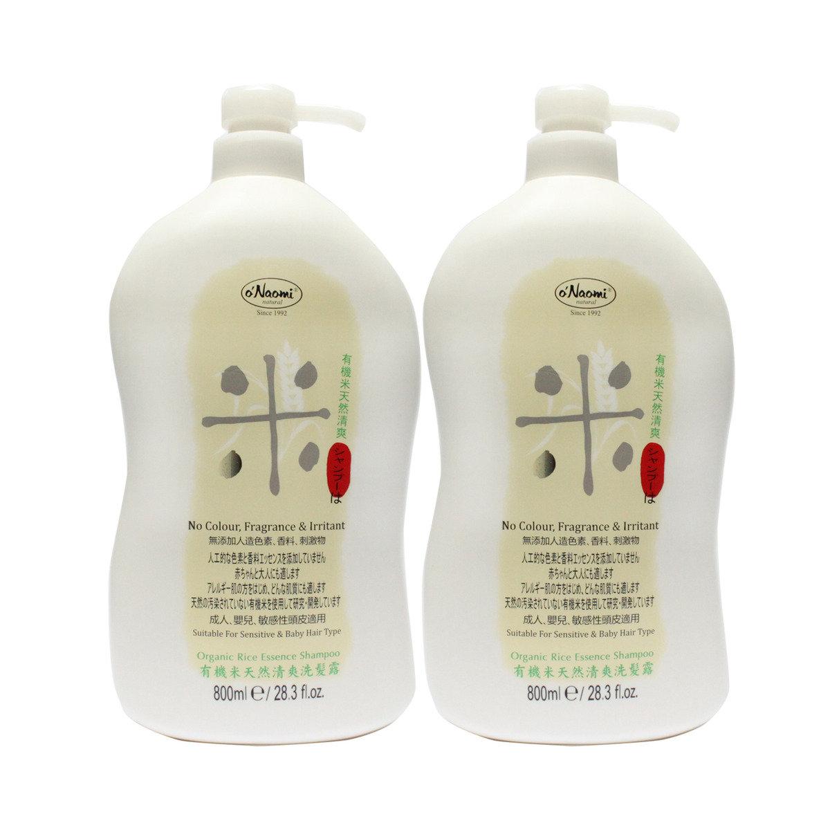 『有機米』溫和滋潤洗髮露 800ml X2
