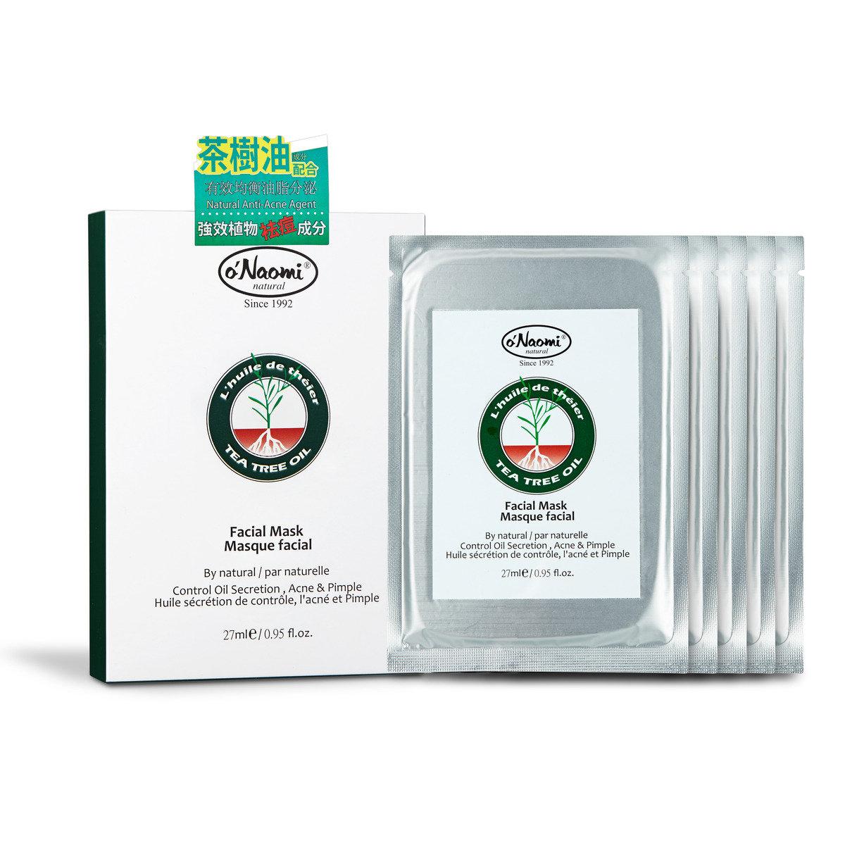 茶樹油控油除痘補濕面膜 (5片)