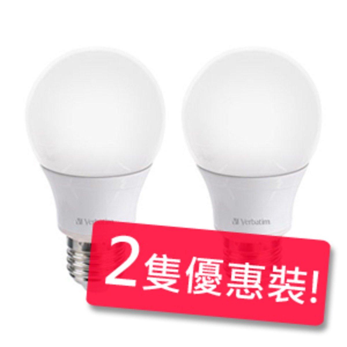 Verbatim 6瓦 E27 480lm 3000k 燈泡 (暖白) 2隻優惠裝
