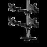 坐檯式四顯示器支架臂