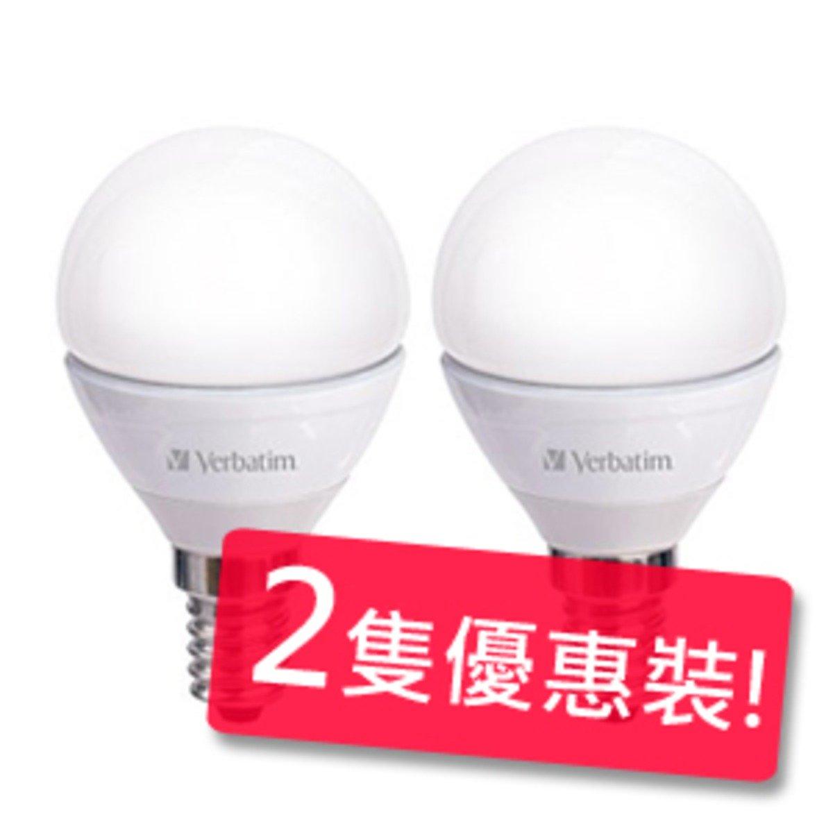 Verbatim 4.5瓦 E14 350lm 3000k 燈泡 (暖白) 2隻優惠裝