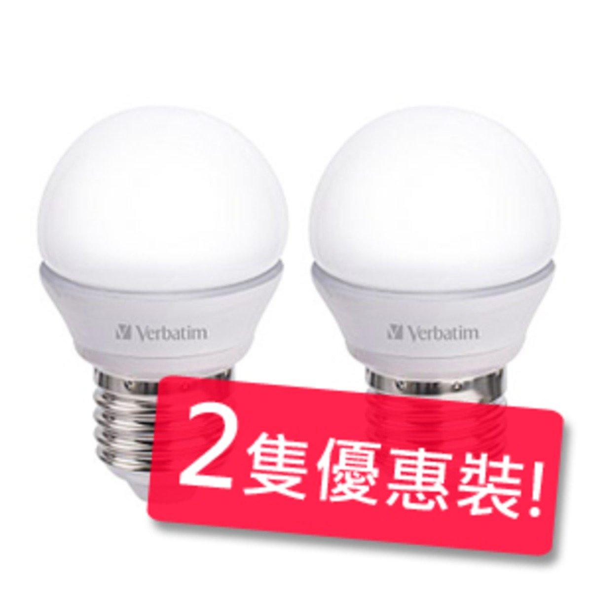Verbatim 4.5瓦 E27 350lm 3000k 燈泡 (暖白) 2隻優惠裝