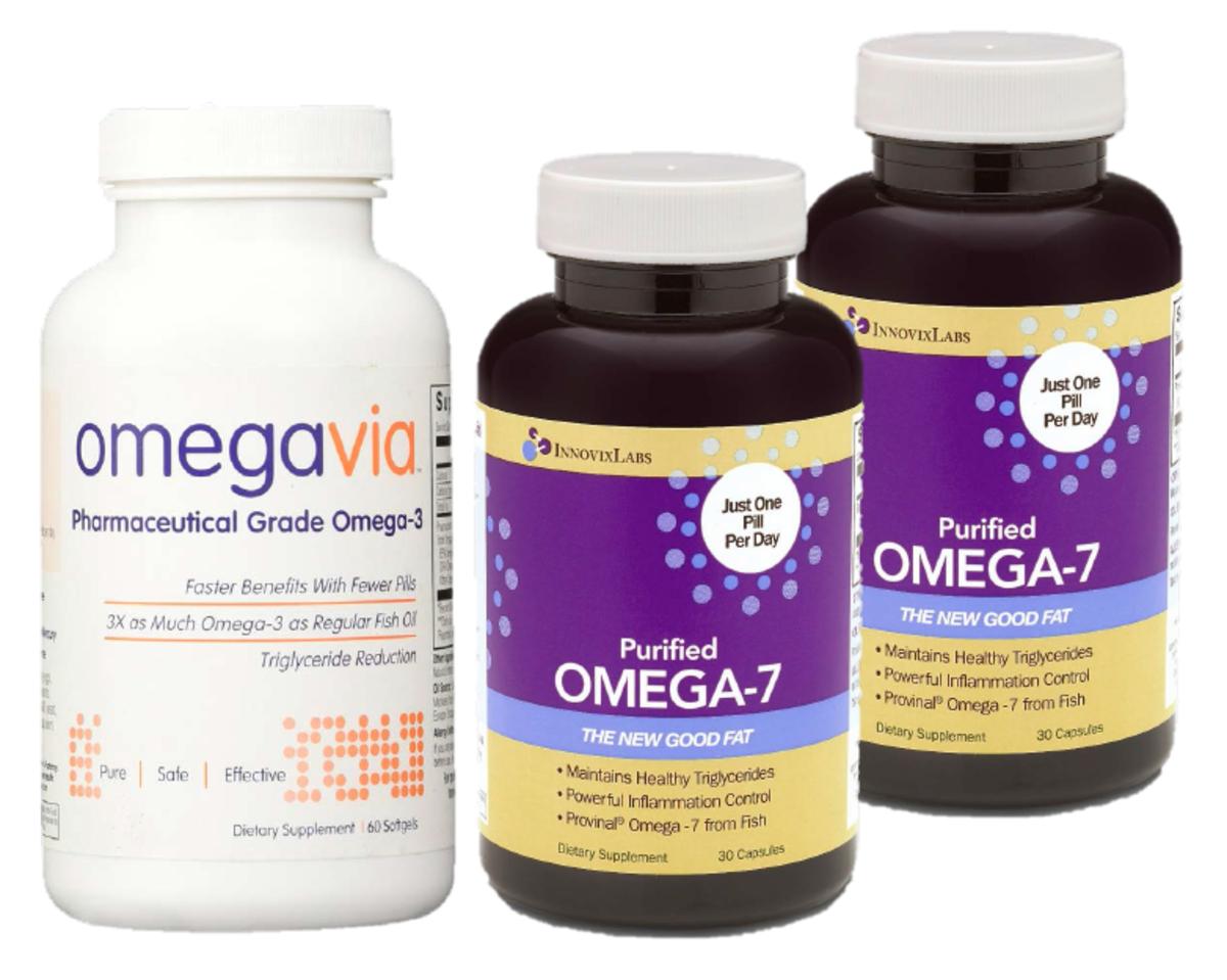 1瓶 極純OMEGA-3魚油丸  + 2瓶 超純OMEGA-7魚油丸