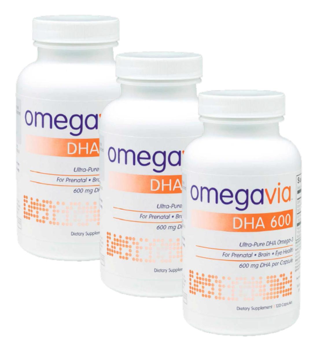 3瓶 極純DHA 600 魚油丸(DHA ONLY)