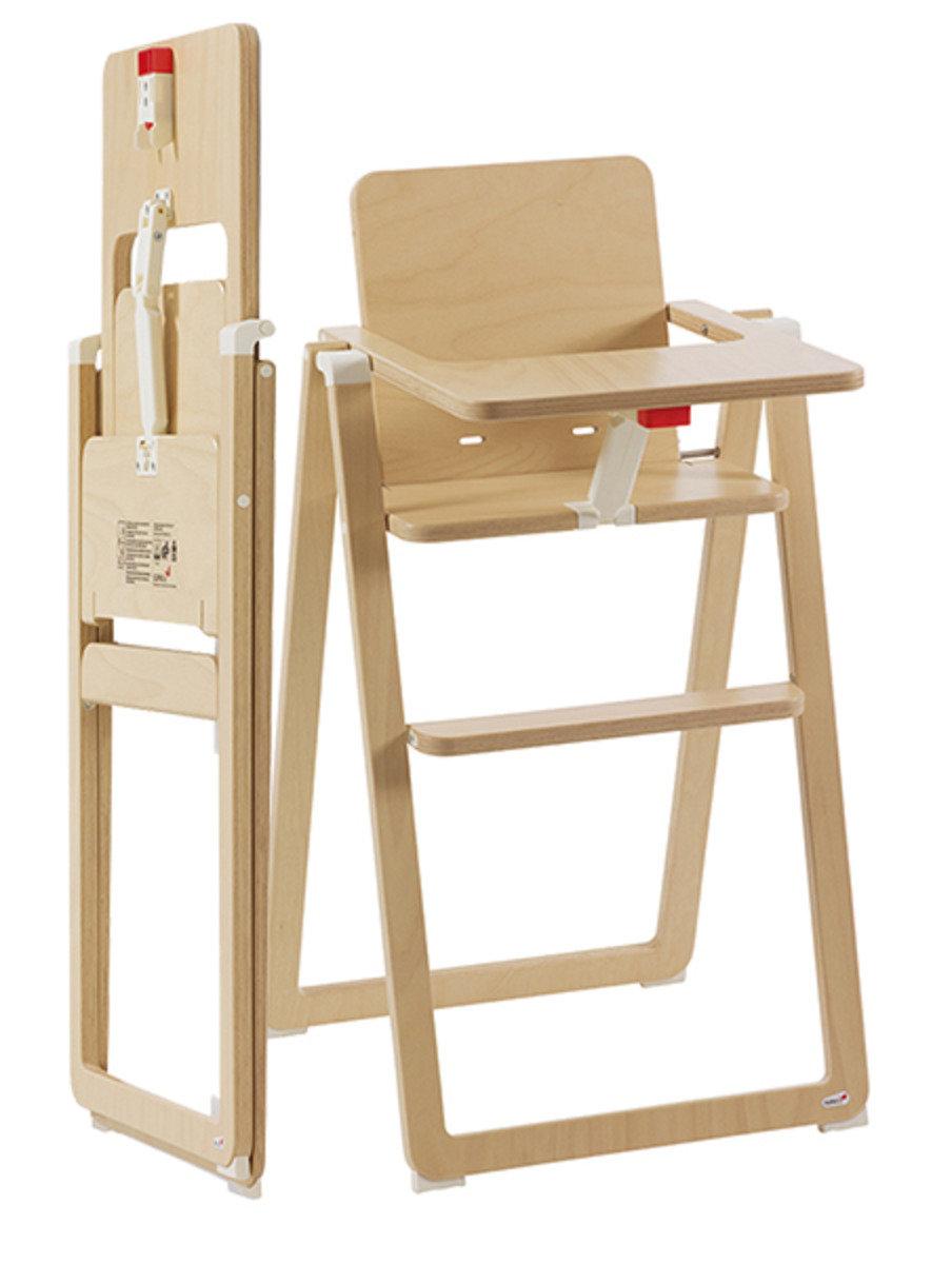 奧地利 SUPAflat 超薄可摺合木餐椅 – 原木色