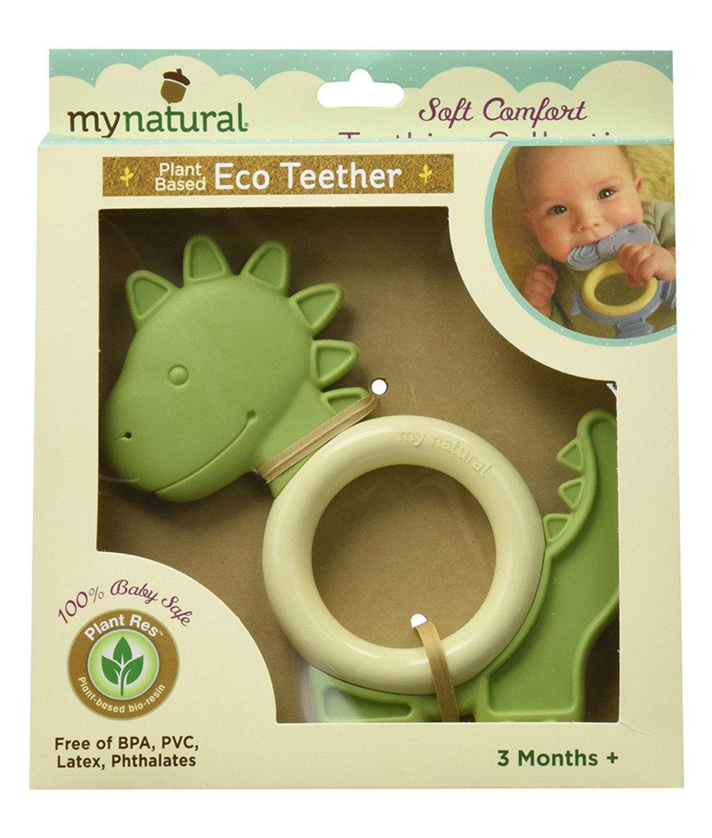美國紐約My Natural™純天然有機環保牙膠 - 綠色恐龍