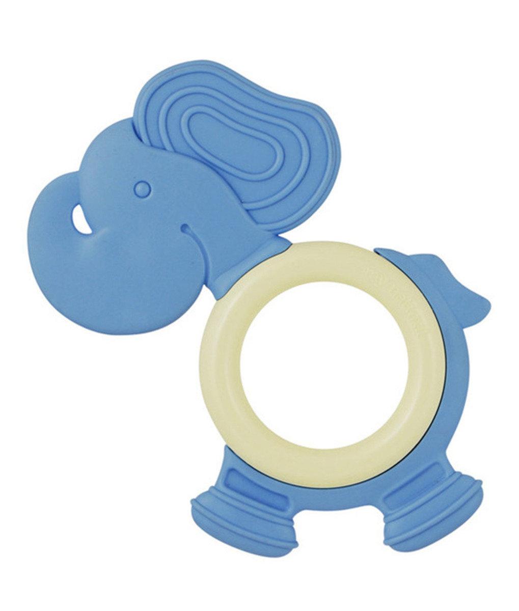 美國紐約My Natural™純天然有機固齒器 - 粉藍小象