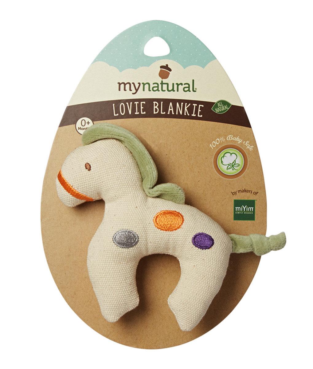 美國紐約My Natural™天然有機帆布牙膠 - 綠色小馬