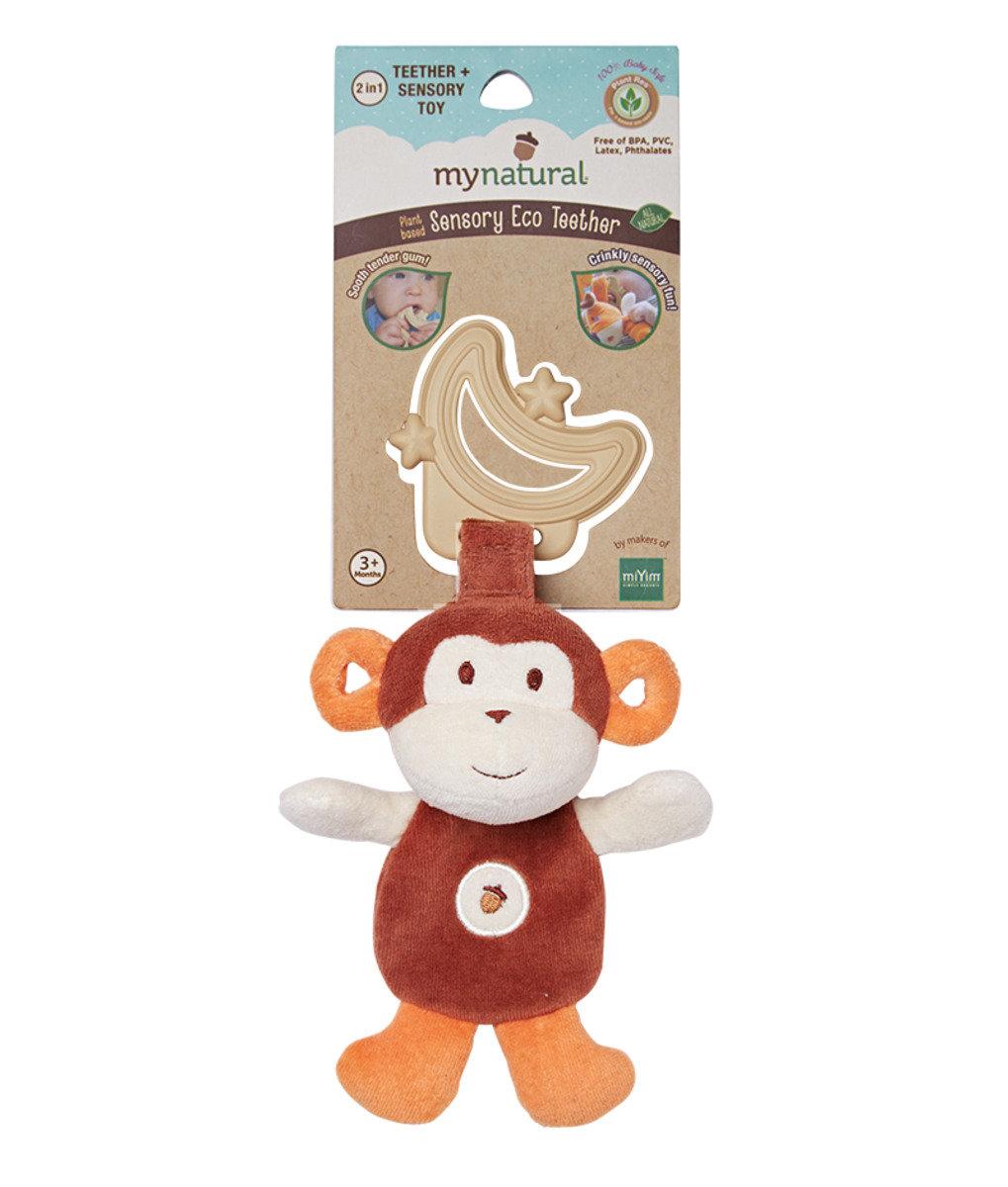 有機棉牙膠 - 棕色小猴