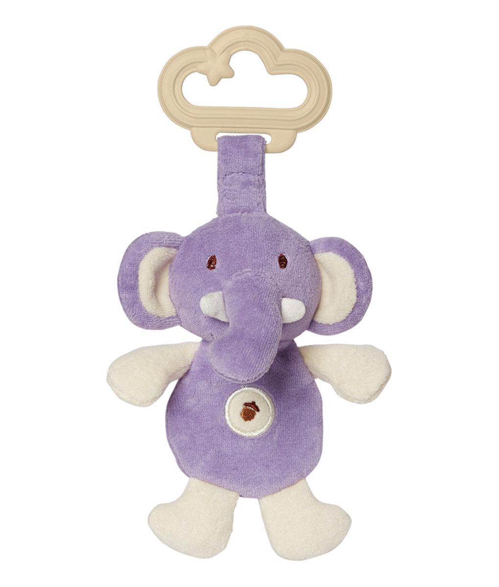 有機棉牙膠 - 粉紫小象