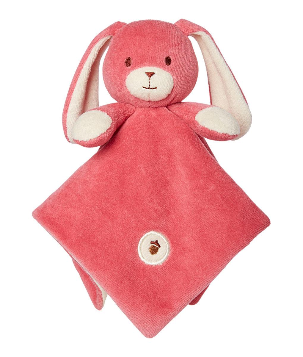 美國紐約My Natural™ Lovie Blankie天然有機棉安撫巾 - 桃紅小兔