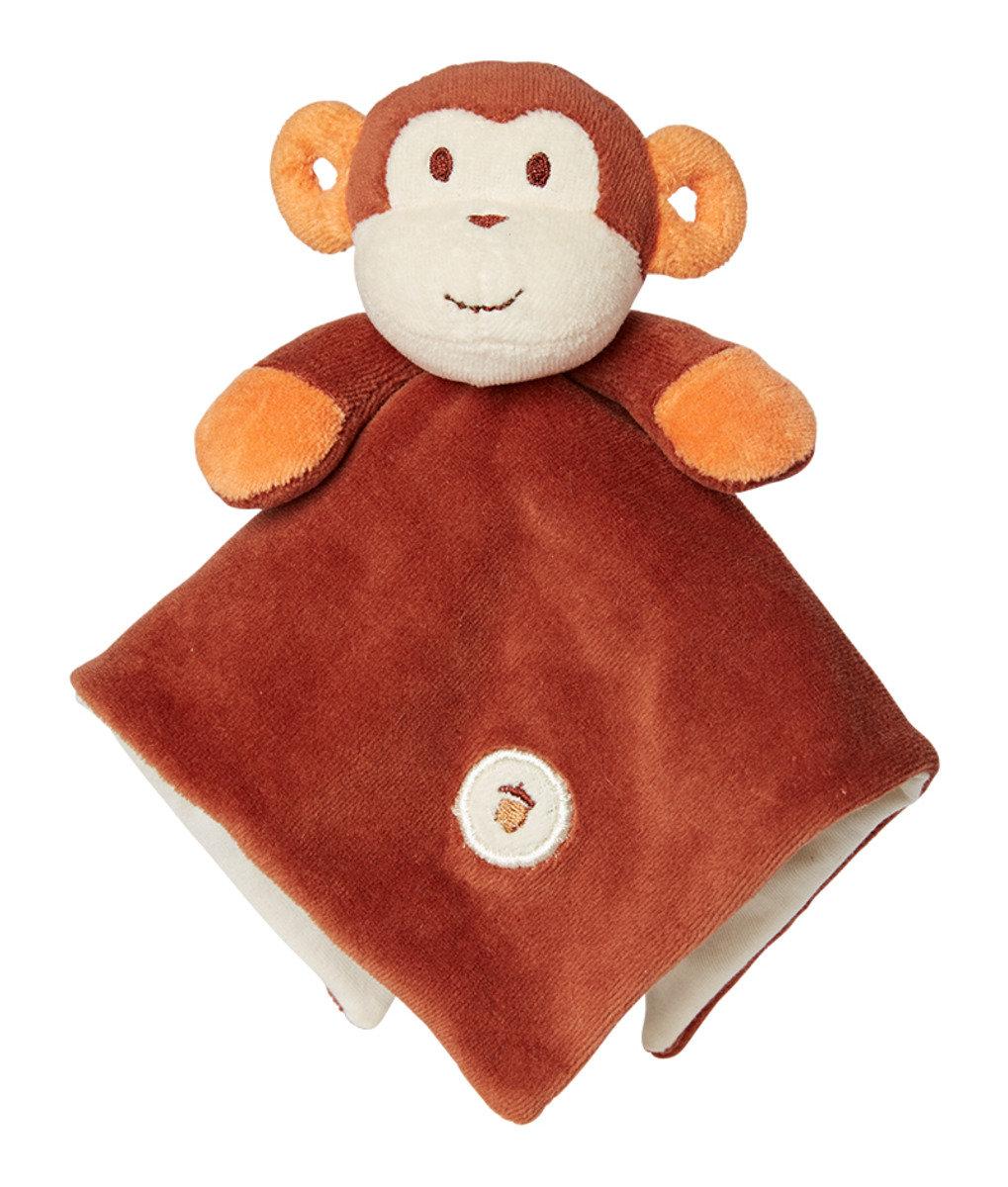 美國紐約My Natural™ Lovie Blankie天然有機棉安撫巾 - 棕色小猴