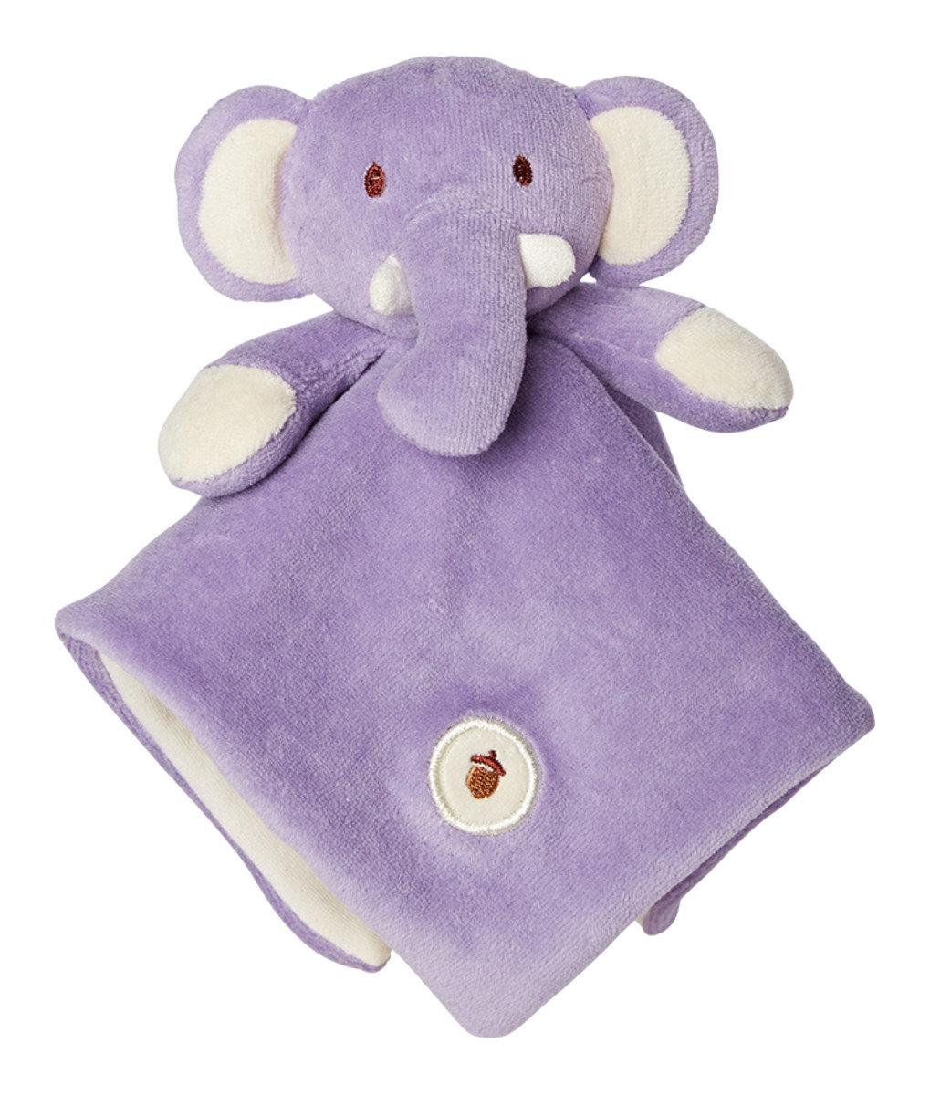 美國紐約My Natural™ Lovie Blankie天然有機棉安撫巾 - 粉紫小象