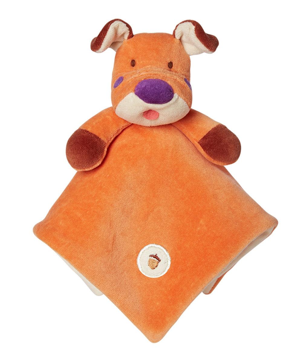 美國紐約My Natural™ Lovie Blankie天然有機棉安撫巾 - 橘色小狗