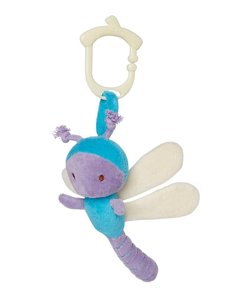 美國紐約My Natural™Clip n Go有機棉吊掛感官玩具 - 小蜻蜓