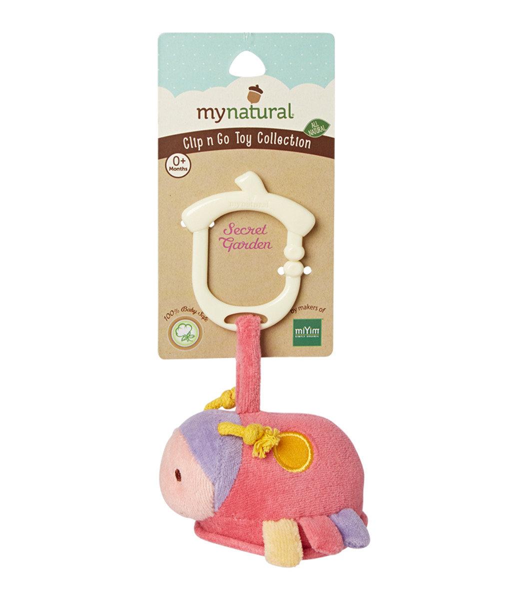 美國紐約My Natural™Clip n Go有機棉吊掛感官玩具 - 小瓢蟲