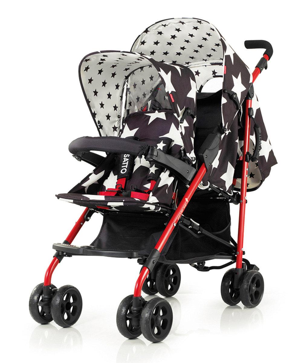 英國 Cosatto Shuffle 嬰兒雙人推車 - All Star