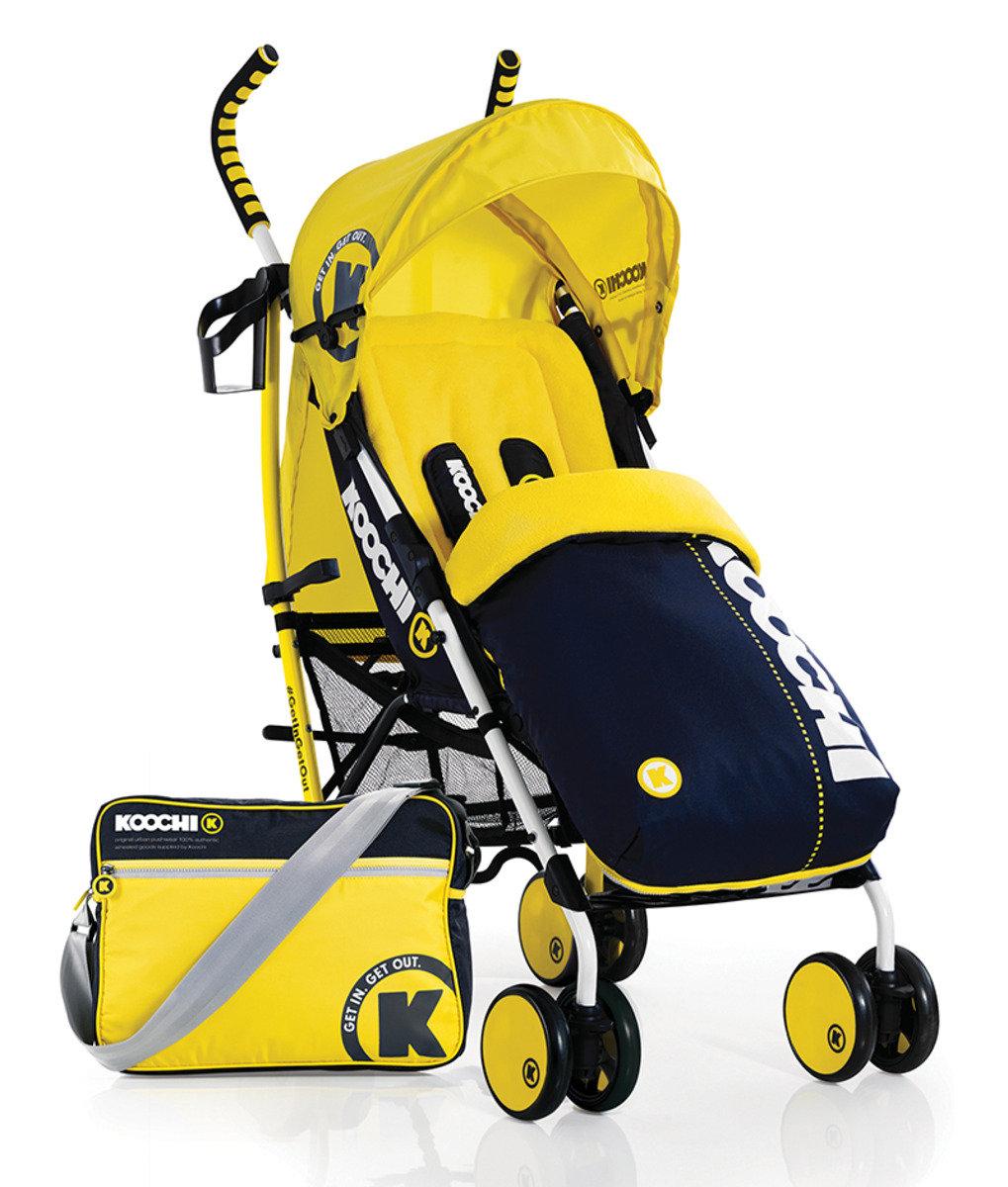 英國 Koochi Speedstar 嬰兒手推車 - Primary Yellow
