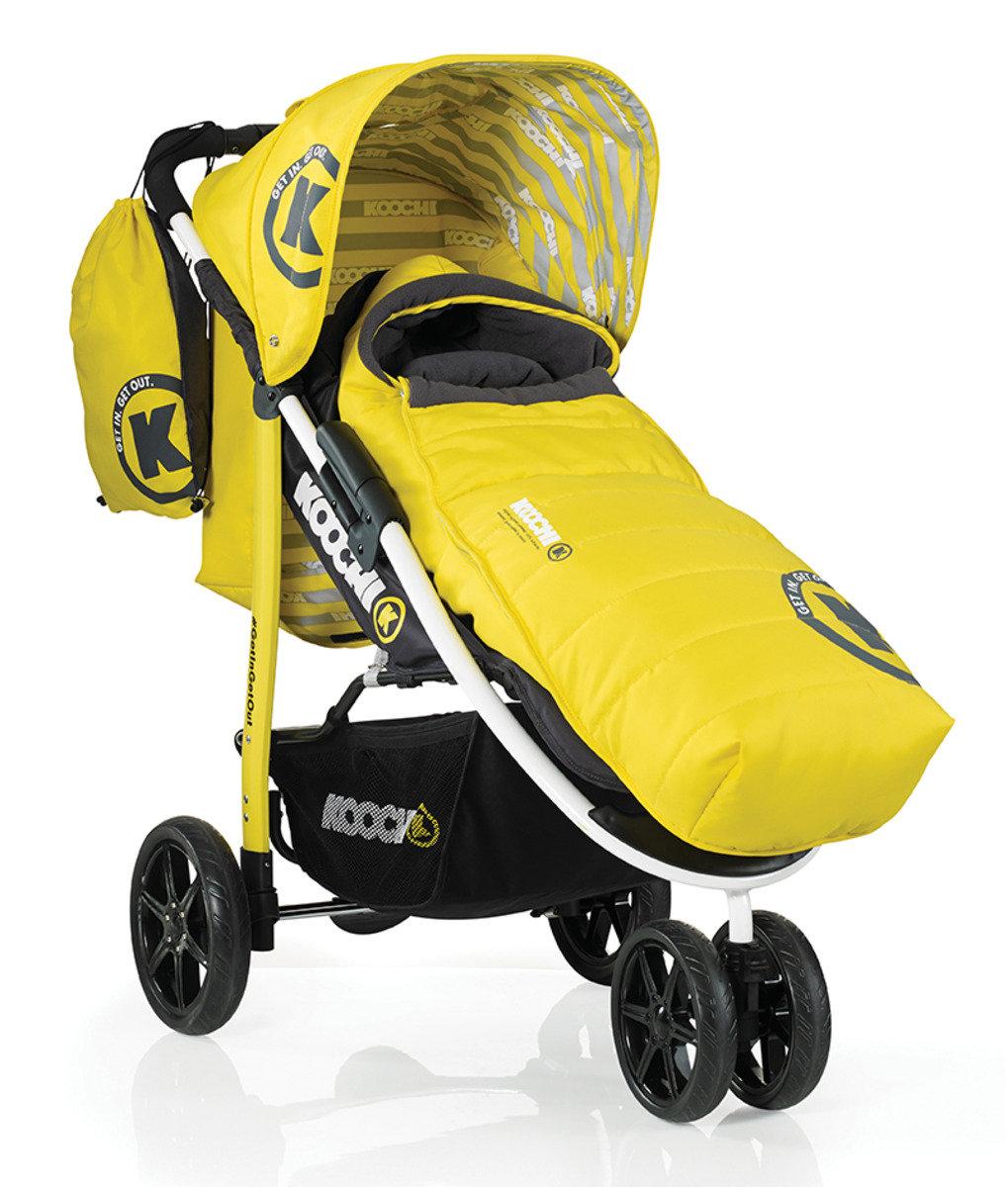 英國 Koochi Pushmatic 嬰兒三輪手推車 - Primary Yellow