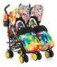 英國 Cosatto Supa Dupa 嬰兒雙人推車 - Pixelate