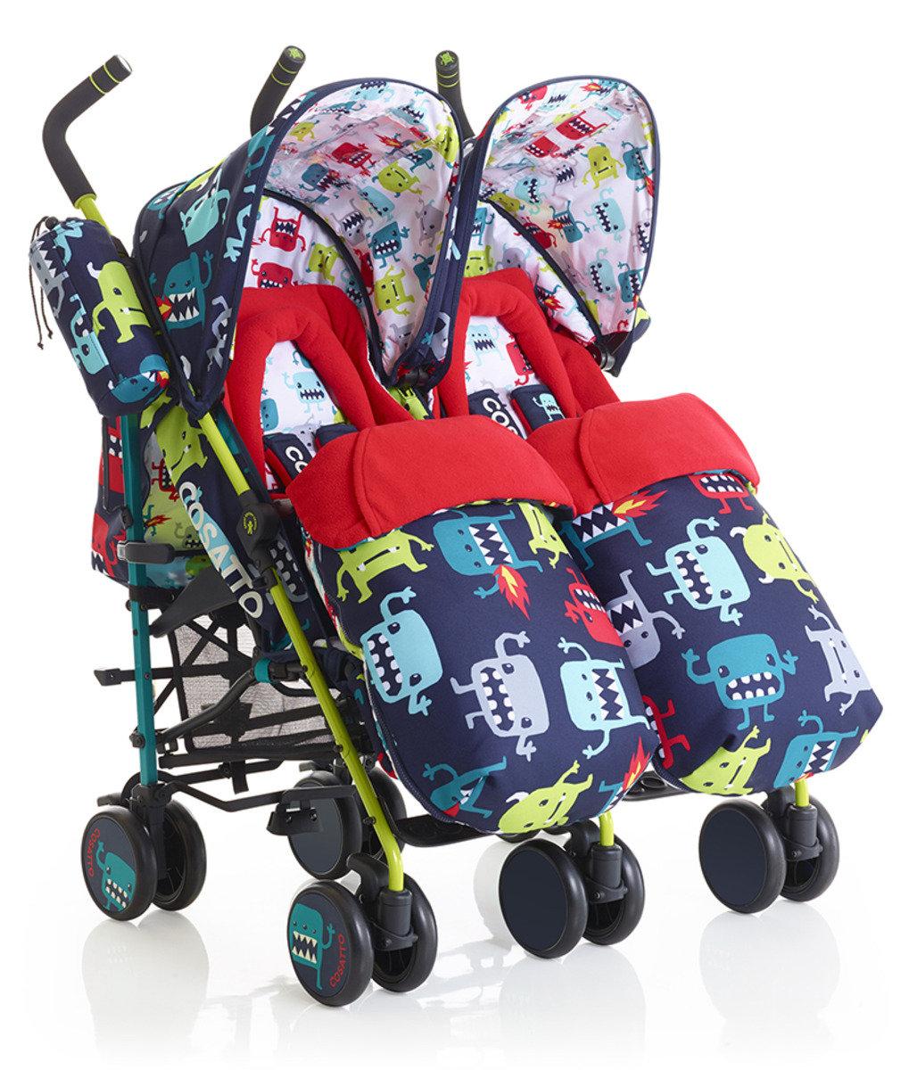 英國 Cosatto Supa Dupa 嬰兒雙人推車 - Cuddle Monster 2