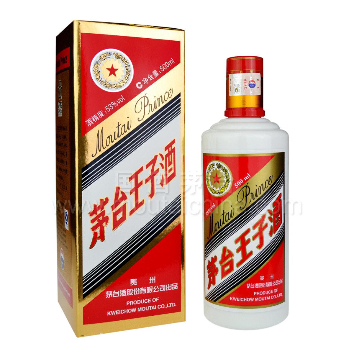 茅台王子酒500毫升 53% 酒精度 醬香型白酒