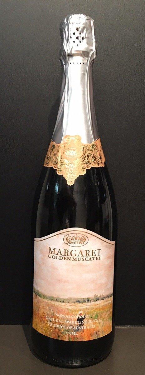 不含酒精純天然氣泡葡萄果汁 瑪格麗特金黃穆斯卡黛氣泡白葡萄果汁