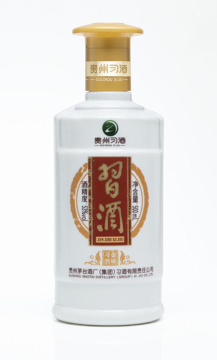 金質習酒500 毫升 53% 酒精度 醬香型白酒