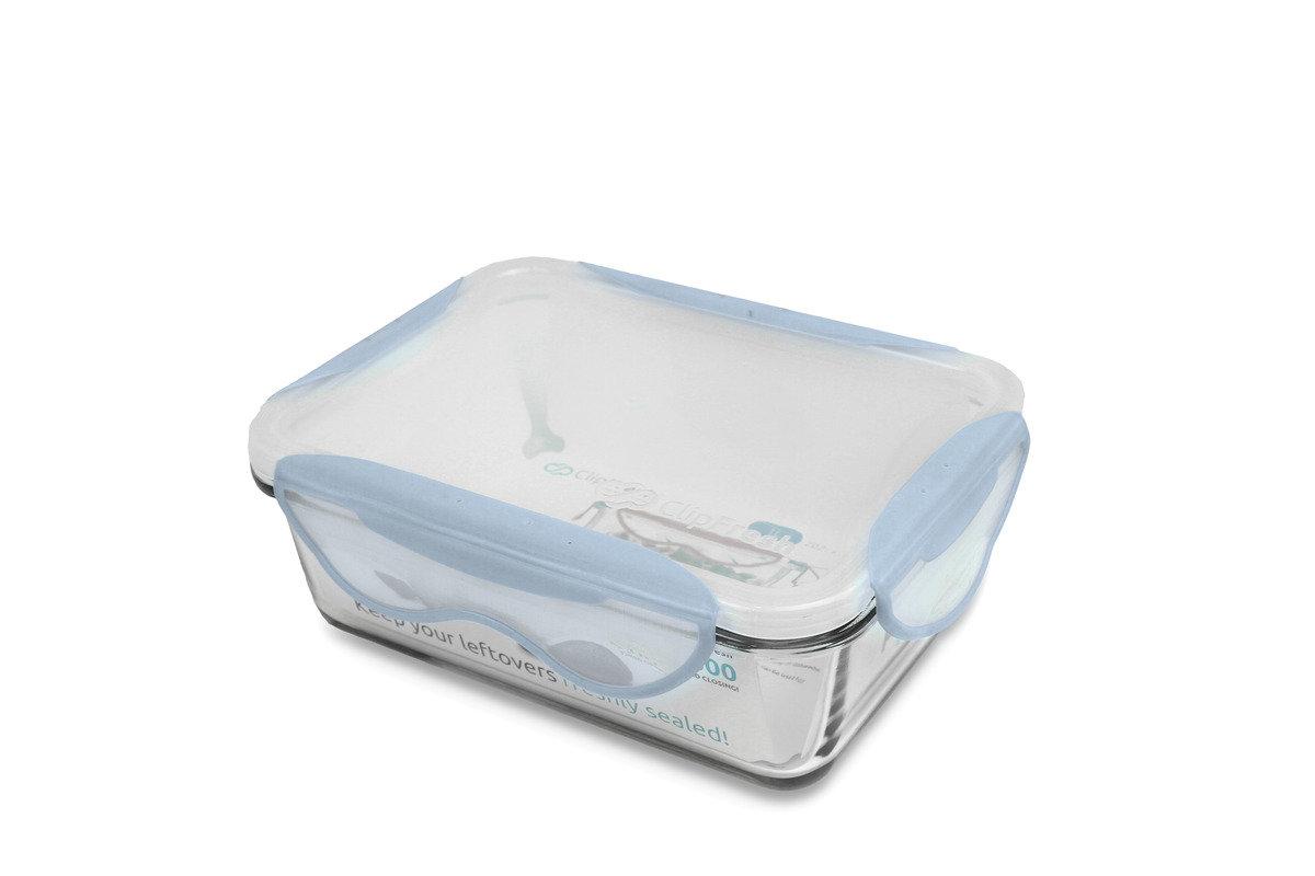 Clip Fresh -  1000ml玻璃焗盤密實保鮮盒