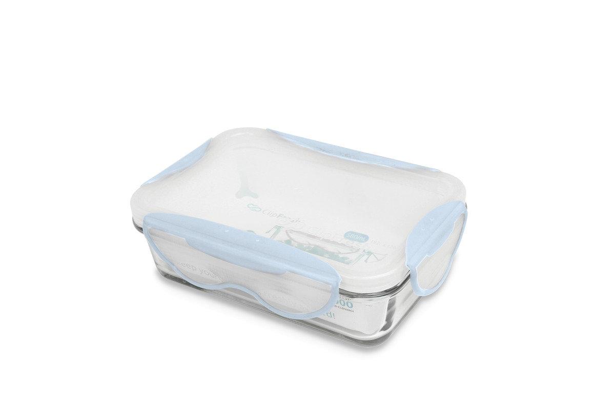 Clip Fresh -  580ml玻璃焗盤密實保鮮盒