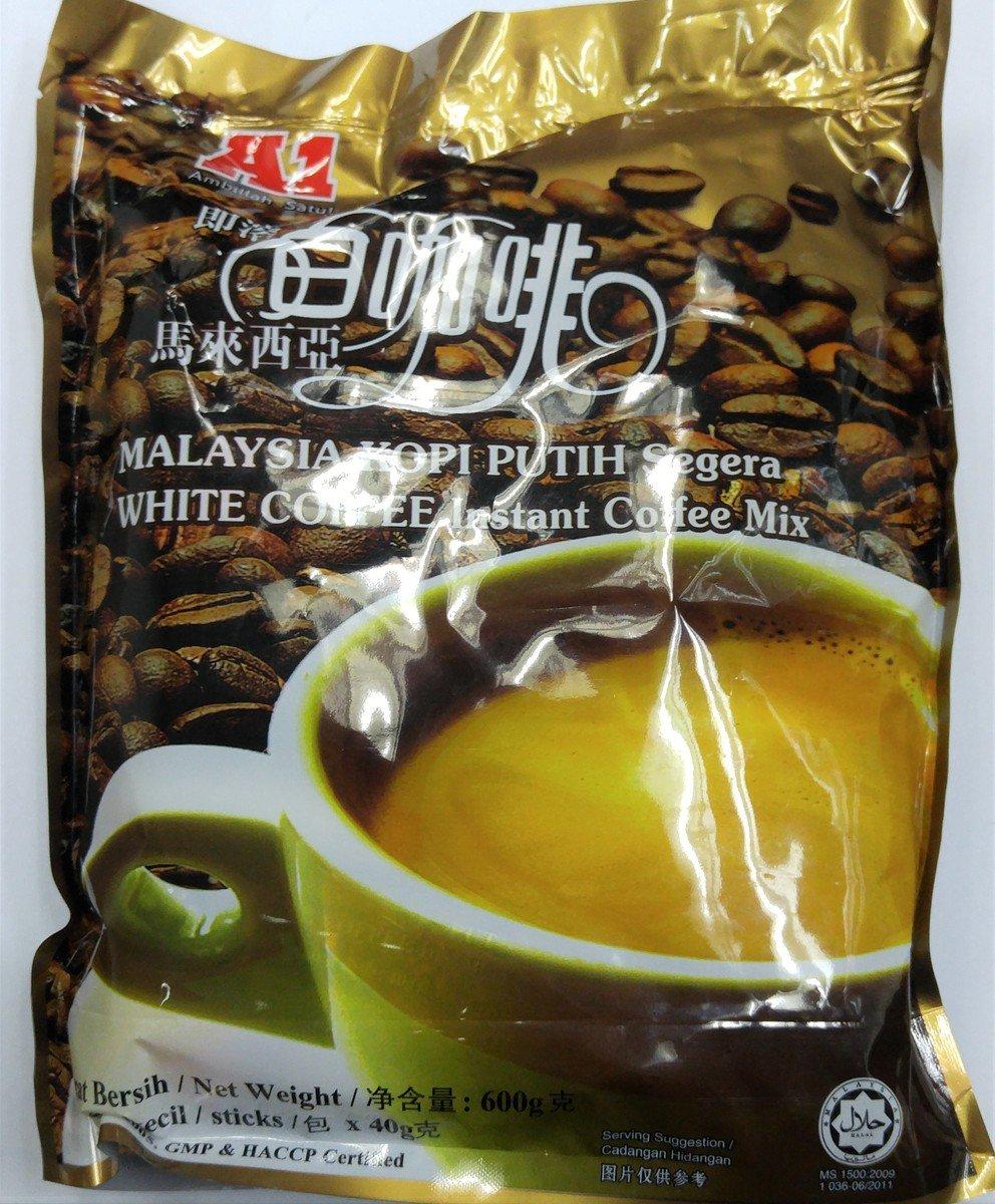 A1 即溶馬來西亞白咖啡, 600克(40克 x 15條)