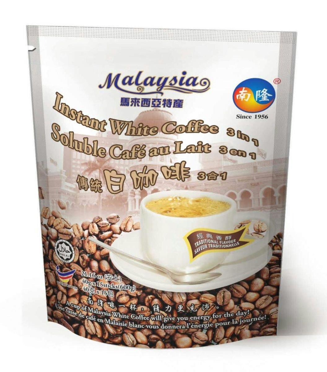 南隆即沖馬來西亞白咖啡, 傳統3合1混合式, 600克(40克 x 15條)