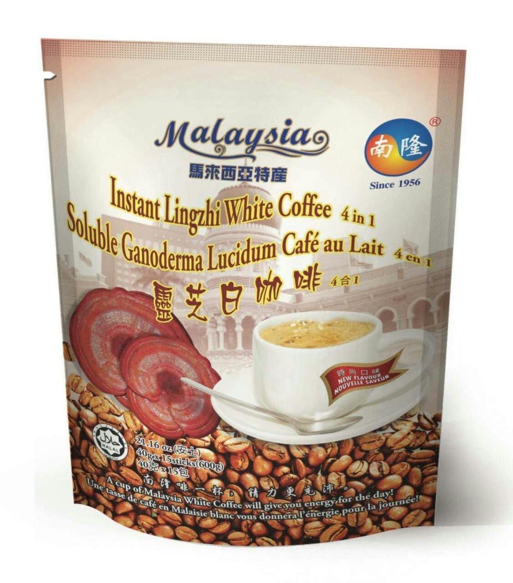 南隆即沖靈芝白咖啡, 4合1混合式, 600克(40克 x 15條)