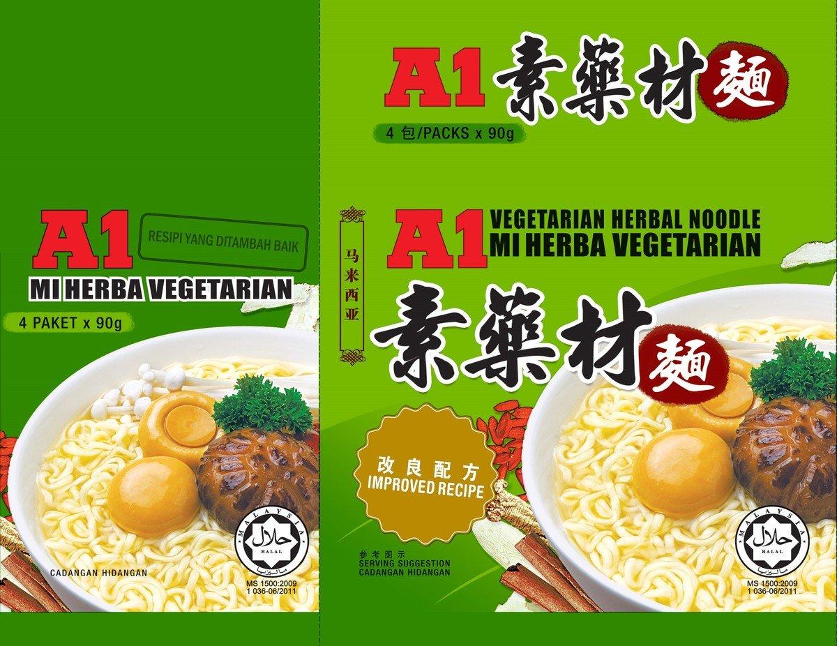 龍馬牌A1素藥材麵 (4包裝)
