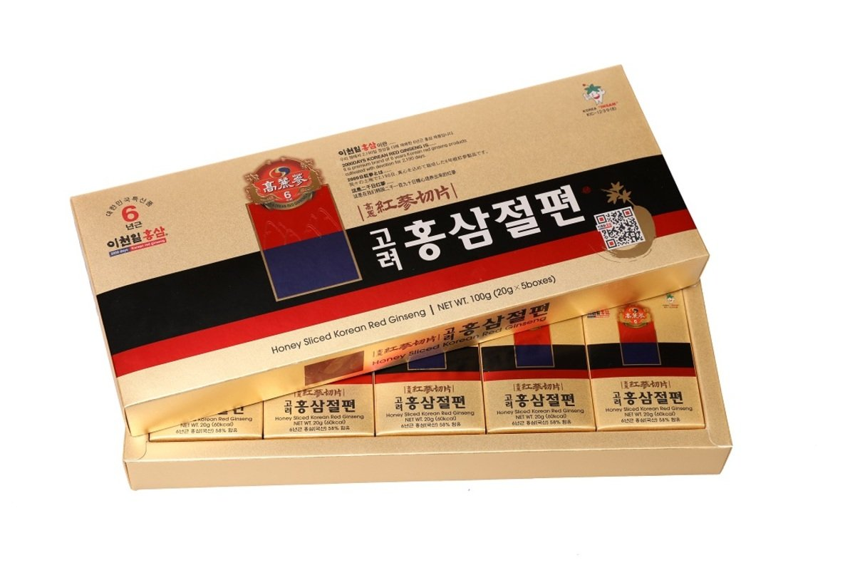 6年根韓國紅蔘蜂蜜切片 (20g x 5盒)