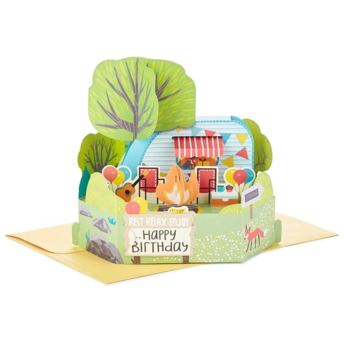 Hallmark Currently Viewing Camping Celebration Pop Up Birthday Card