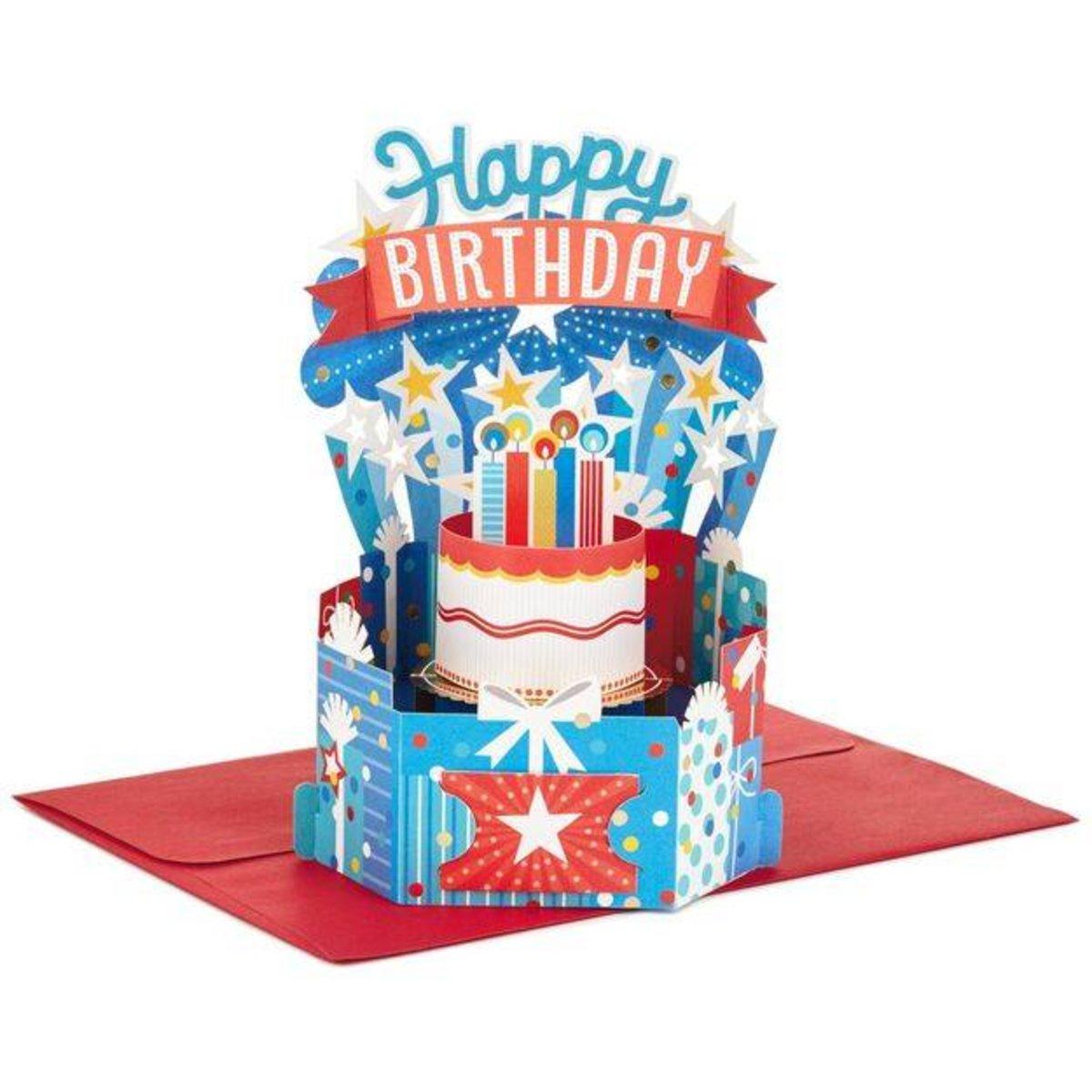 Hallmark Colorful Birthday Celebration Pop Up Card