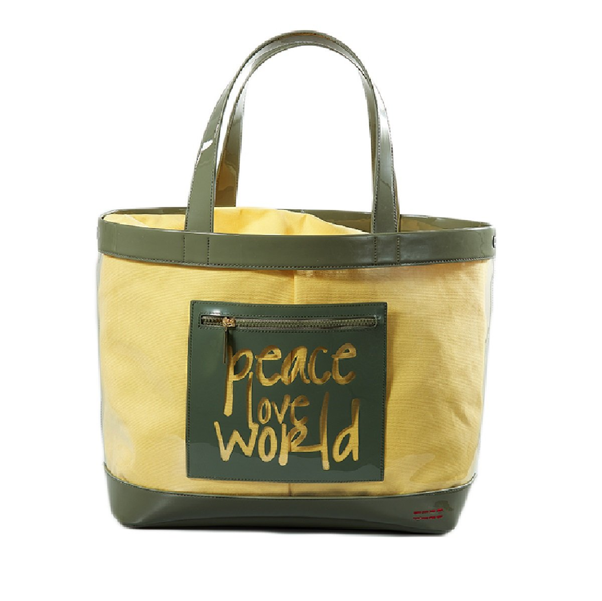 Peace Love World Oversized Clear Tote With Pouch  Spring Hktvmall Online Shopping