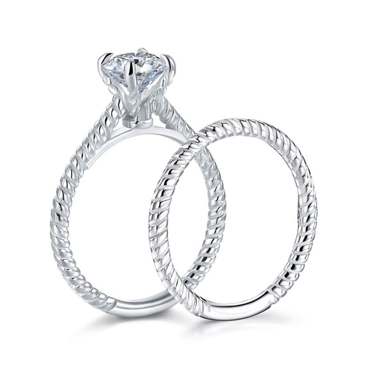 Niomi Jewellery Korean Style 1 Carat Simulated Diamond 925