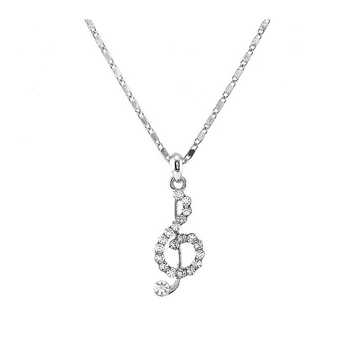 musical white note for i diamond charm less ct pendant clef gold treble jewelry
