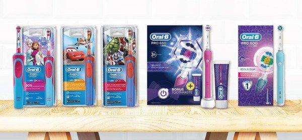 【特價發售】Oral B 成人及小童電動牙刷 全球牙醫No.1推薦,照顧全家需要!