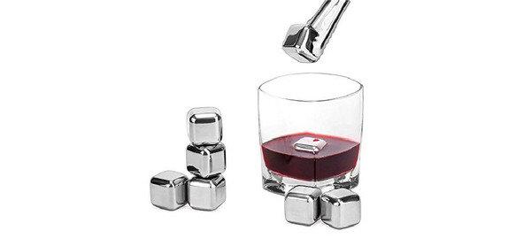取代冰塊, 不會稀釋酒味 不鏽鋼冰酒石(六粒)