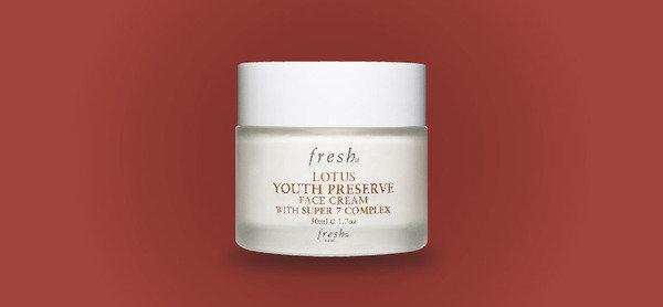 採用天然的原料 提供24小時水分滋潤 Fresh 睡蓮青春活膚面霜 50ml