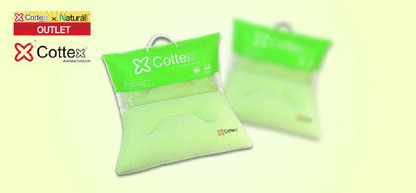 枕芯中散發綠茶精華 Cottex® 綠茶太空記憶棉枕